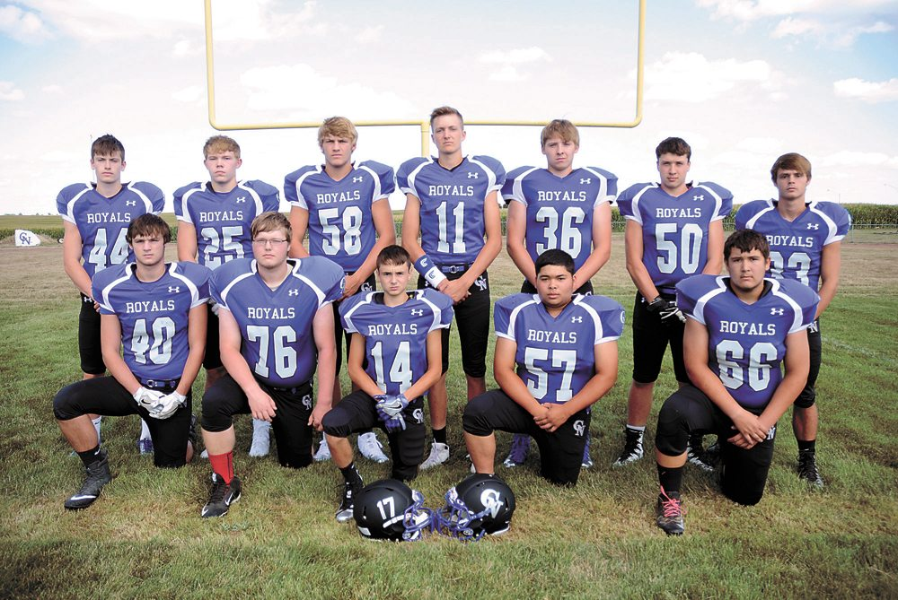 T-R PHOTO BY ROSS THEDE • The Colo-NESCO football team returns 12 letterwinners from last year's team. Pictured are, front row: (from left) Francis Bower, Zack McWherter, Kelly Gray, Adam Texeira and Colin Hall; back row: Mason Lytle, Garrett Packer, Jacob Clatt, Sean Cutler, Connor Clark, Bryce Niemeyer and Philip Bower.