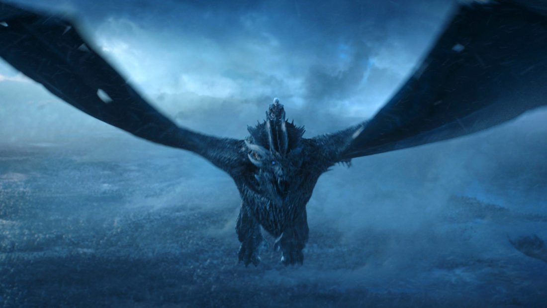 """This image released by HBO shows Vladimir Furdik as The Night King on the season finale of """"Game of Thrones."""" The series set yet another audience record Sunday with its seventh-season finale. Nielsen says an all-time high of 12.1 million viewers were tuned in to the wildly popular fantasy drama. An additional 4 million caught the episode on streaming channels. (HBO via AP)"""
