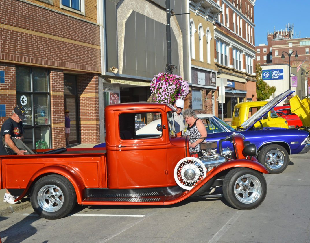Friday evening, the annual Oktemberfest Classic Car & Truck Cruise drew a crowd of folks along Main Street, interesting in retro rides. Early car models, 1970s muscle cars, and some brand new vehicles were on display, plus everything in between. Oktemberfest continues today, including the festival's parade, which takes place on Main Street, beginning at 10 a.m.