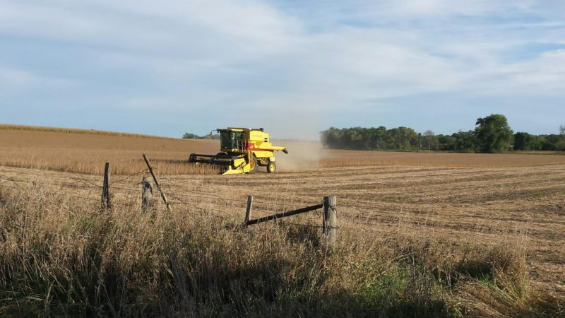 CONTRIBUTED PHOTO Scott Giannetto captured this image of harvesting efforts in Marshall County.