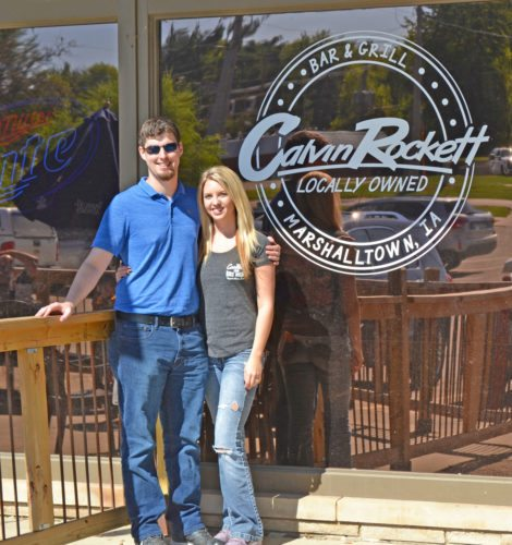 Grant Mattox and his fiancée Anna Fricke have taken over ownership and management of Calvin Rockett Bar & Grill from long-time owners Tim and Alli Shore. The couple have retained the eatery's staff and will continue with the same menu and general format. In addition to the restaurant, the establishment has an upper level party room and patio dining.