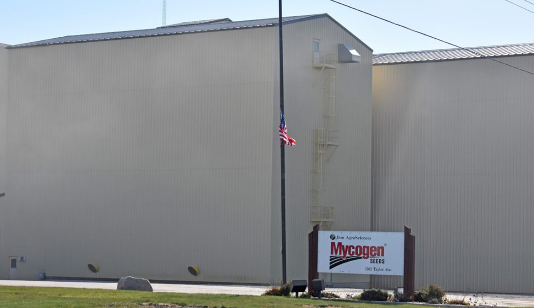 Pictured is Mycogen Seeds — a division of Dow AgroSciences — facility in the 1500 block of Taylor Avenue. Operations will be closed by DuPont-Dow in the spring of 2018, according to a company spokesperson.