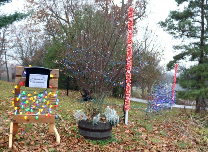 Marshalltown High School freshman Marek Jablonski is back to lighting up his yard with Christmas lights after a similar project turned heads in 2017. One major addition this year is a donations drop-box, and all money will go toward the House of Compassion. The display and drop-box can be found at 1737 Country Club Lane.