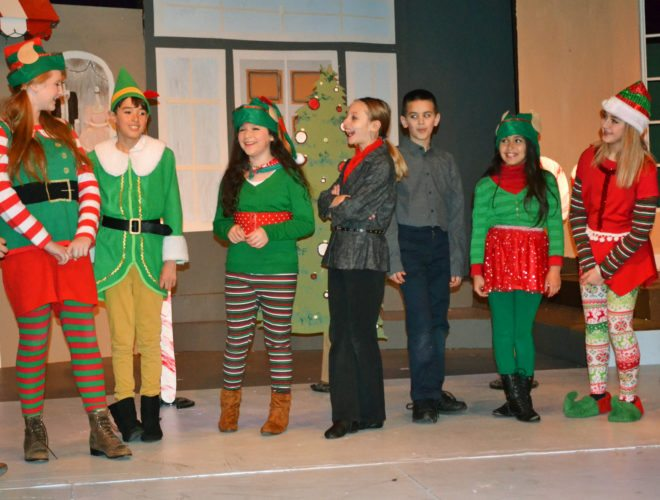 """T-R PHOTO BY SARA JORDAN-HEINTZ """"Elf, Jr."""" the musical opens Saturday at the Martha-Ellen Tye Playhouse, put on by young thespians through the Marshalltown Community Theatre. Twenty children, ages 8-15, appear in the show. Showtimes are Dec. 9 and 16 at 7:30 p.m. and Dec. 10 and 17 at 2 p.m."""