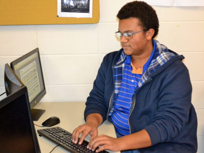 T-R PHOTO BY SARA JORDAN-HEINTZ Tariq Martin, 16, a junior at Marshalltown High School, excels in science and computer software. He enjoys biking, playing disc golf and video games, and cooking. He would like to be an automotive engineer someday and design cars for General Motors.
