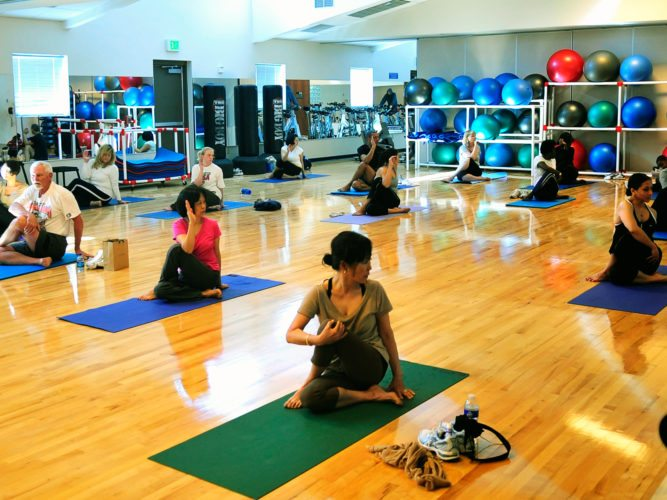 "CONTRIBUTED PHOTO The YMCA-YWCA will host a one day only free ""Om for the Holidays"" yoga session, today from 5:30-6:45 p.m. Open to the public, it is aimed at people in the beginner and intermediate levels."