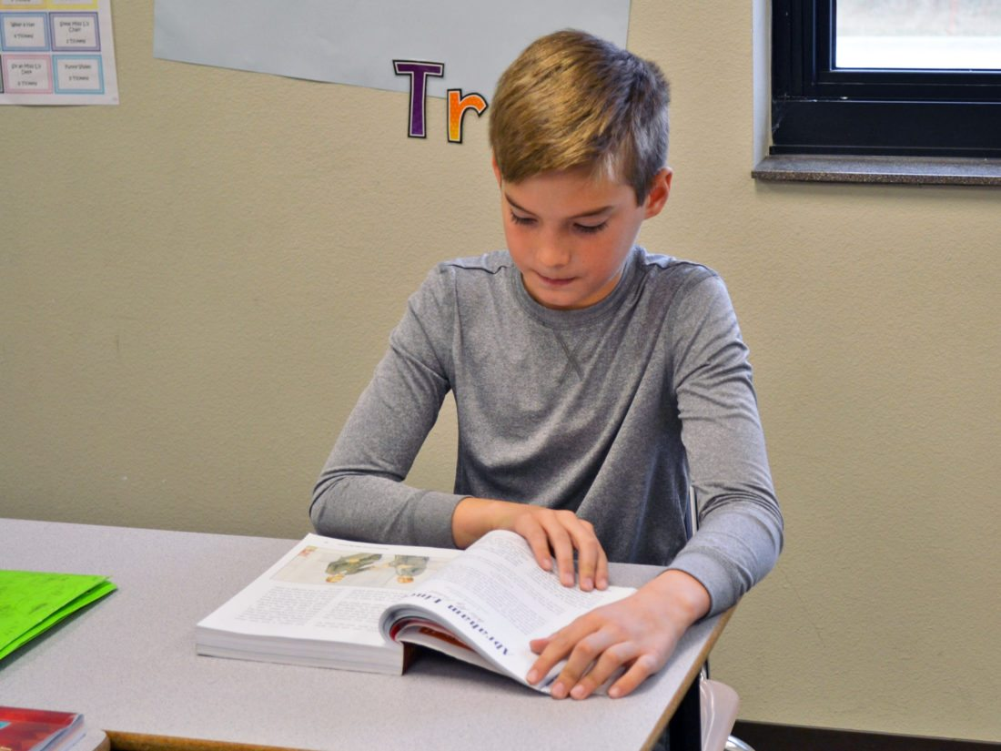 Jett Rosekopf, 9, a fourth grader at Marshalltown Christian School, is met with warm greetings by students of all grade levels. He enjoys mentoring younger pupils, as well as spending time outdoors and playing sports. He would like to be a veterinarian when he grows up