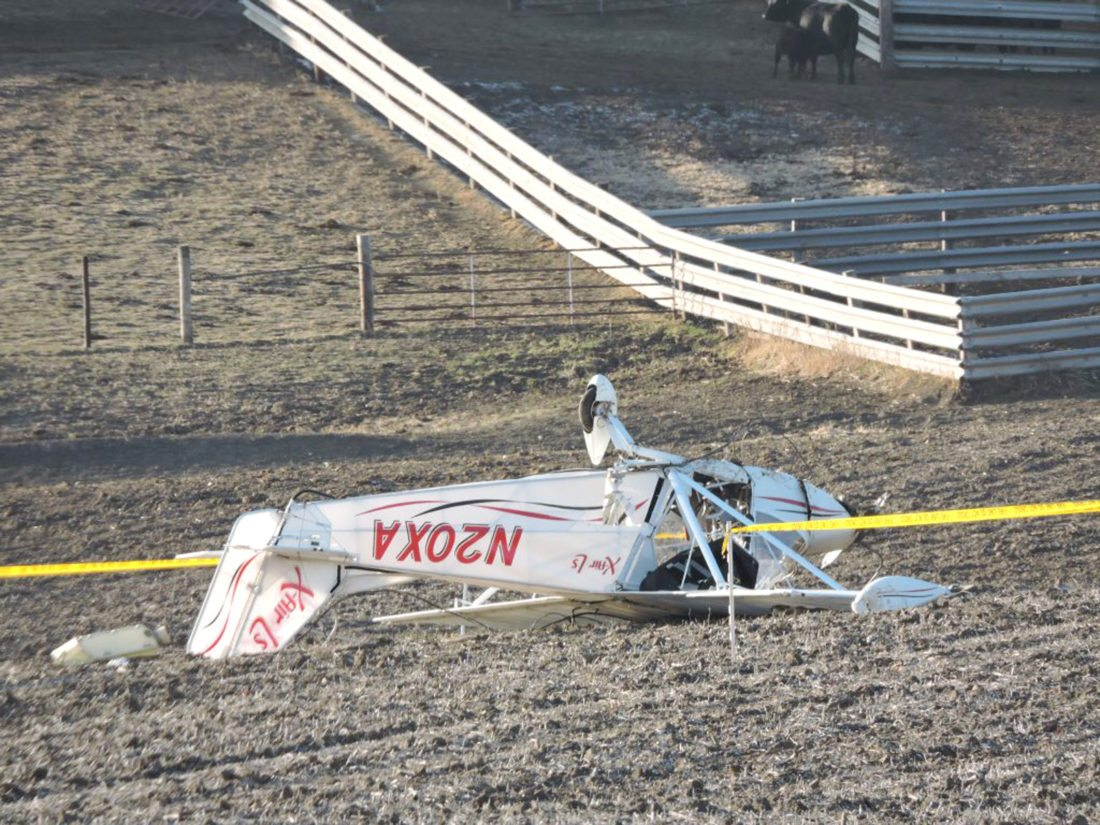 CONTRIBUTED PHOTO  The pilot of a small, two seater plane that crashed in Mahaska County this past Saturday has been identified as Bruce Gene Devick, 70, of Marshalltown. Devick was pronounced dead at the scene.