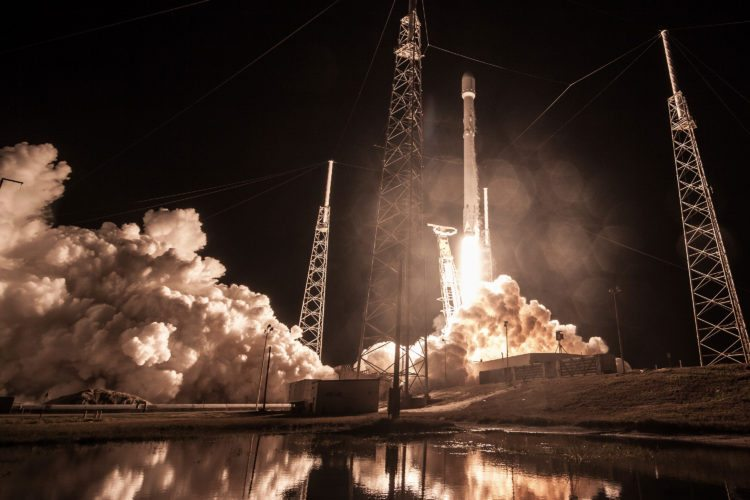 "This Sunday, Jan. 7, 2019 photo made available by SpaceX shows the launch of the Falcon 9 rocket at Cape Canaveral, Fla., for the ""Zuma"" U.S. satellite mission. Responding to media reports that the satellite was lost, SpaceX President Gwynne Shotwell says the rocket ""did everything correctly"" and suggestions otherwise are ""categorically false."" (SpaceX via AP)"