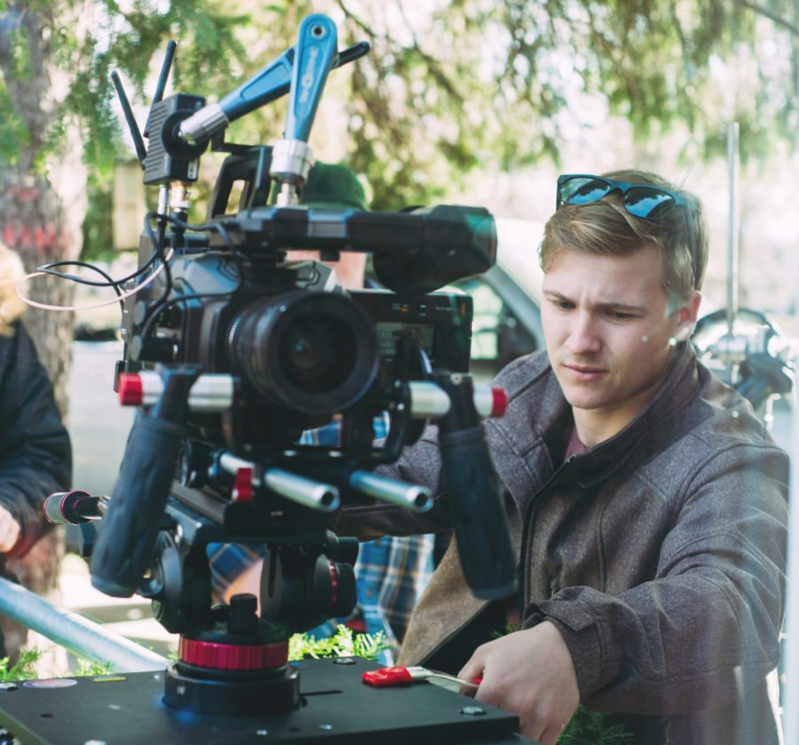 Melbourne native Cole Needham wrote, produced, directed and edited the short film 'Priorities,' set and filmed in Des Moines. The film was released in late December of 2017, and Needham said the project helped him further hone his moviemaking skills. This photo was taken on the 'Priorities' set by Ben Handler