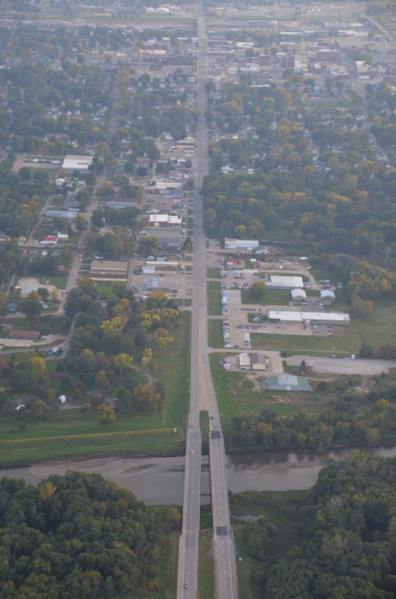 A proposed Highway 14 Corridor study will focus on the area between Anson Street and the Iowa River bridge. This image shows the Highway 14/North 3rd Avenue corridor looking south.