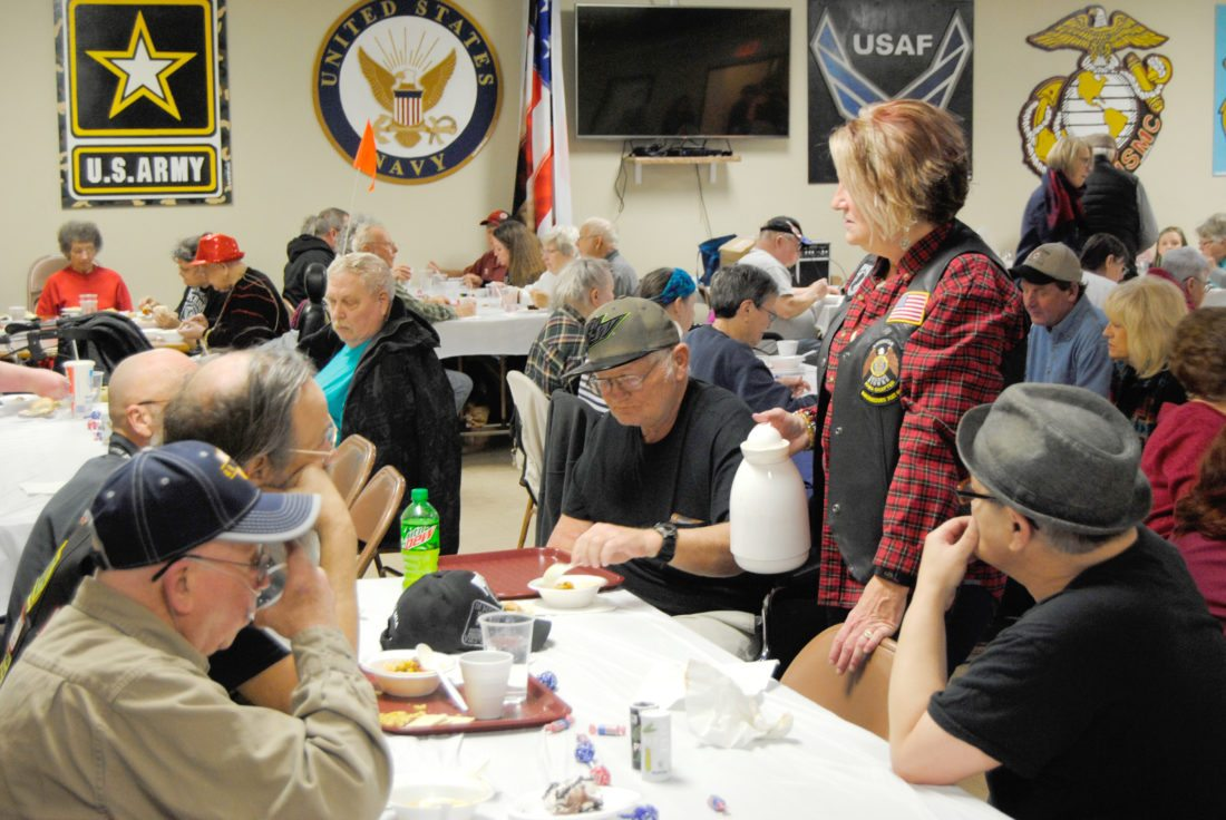 A packed house was on hand at the American Legion Post 46 headquarters in Marshalltown Friday evening for the local American Legion Riders' soup supper. Many community members, including several veterans from the Iowa Veterans Home, lined up to enjoy a variety of soups and chilis, dinners rolls and dessert. Two more highly-anticipated events are set for next month at the Legion — brunch from 8:30 a.m. to 1 p.m. on Sunday, Feb. 4; and then at 5 p.m. Friday, Feb. 16  — turkey and noodles with mashed potatoes.