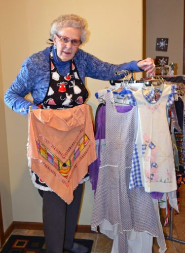 Marshalltonian Joann Neven owns nearly 200 aprons of every color, design, vintage, purpose and sentiment. She says they remain appealing in the 21st century due to their nostalgic factor and association with people and food
