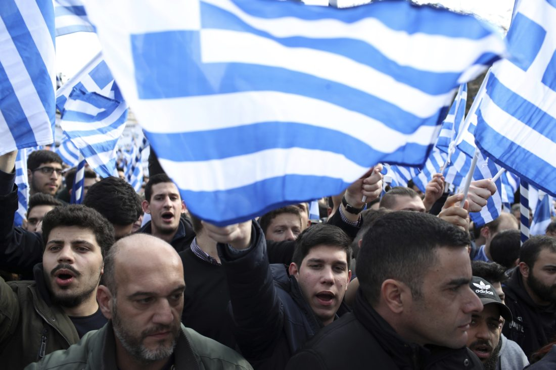 Greeks Protest Over Name