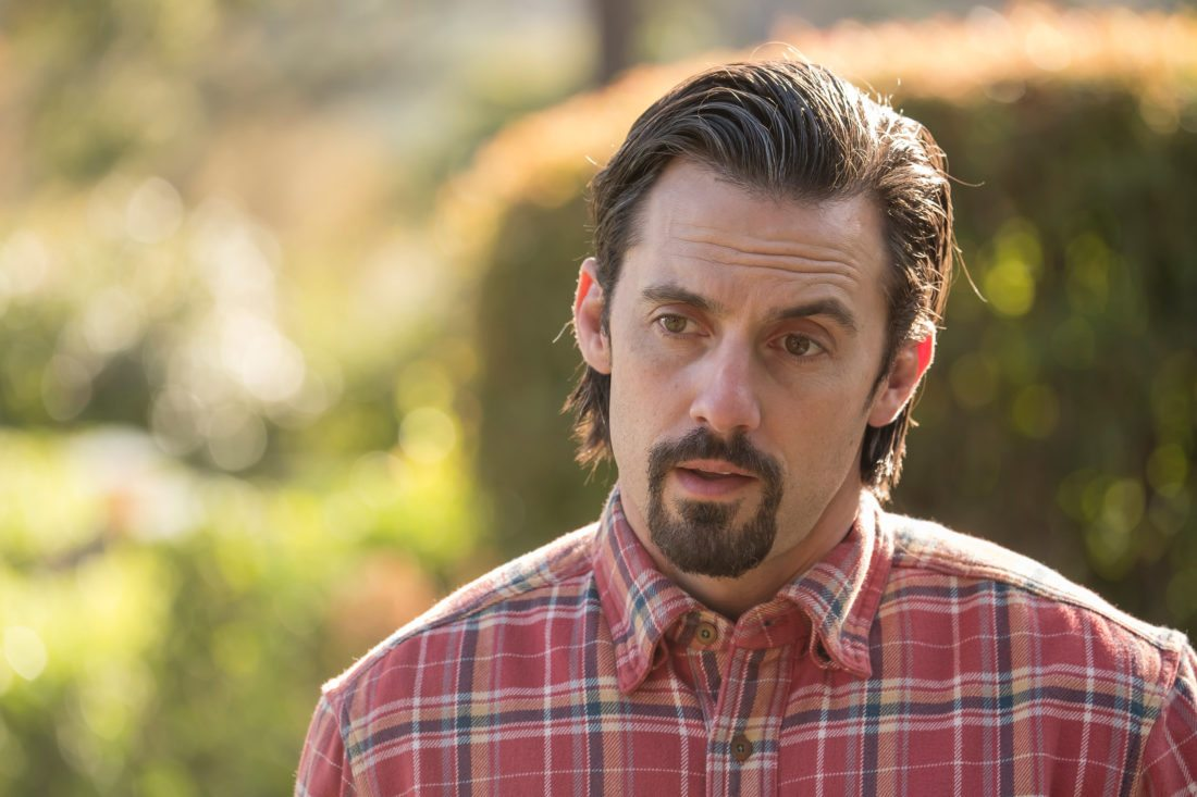 """In this image released by NBC, Milo Ventimiglia appears in a scene from """"This Is Us."""" Super Bowl ratings may have been slightly down for NBC, but the network's entertainment division was buoyed by the showing of """"This is Us"""" after the game. The second-year drama scored just under 27 million people. (Ron Batzdorff/NBC via AP)"""