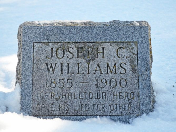 For 95 years, Williams' headstone went unmarked, the family citing a lack of financial resources as the reason. In February 1995, Williams' granddaughter, Mary Bannon, bought a headstone for his grave. At the time of his death, members of the community helped pay off his home mortgage and cover burial expenses.