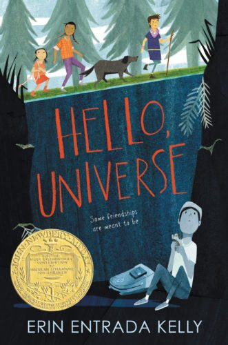 "This cover image released by Greenwillow Books shows ""Hello, Universe,"" by Erin Entrada Kelly, which won the John Newbery Medal for the outstanding children's book of 2017. (Greenwillow Books via AP)"
