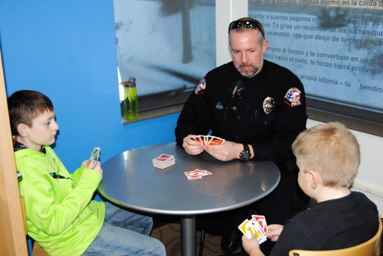 Cop and kids