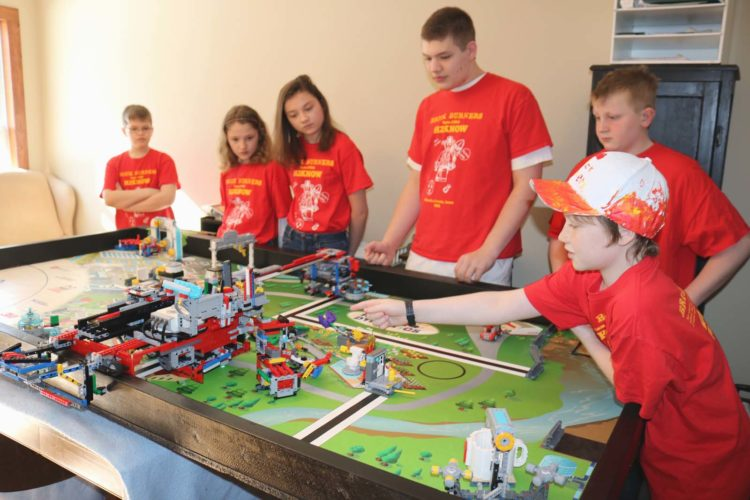 Local Lego League team the Brick Burners are set to compete at an international level in May. They will bring their hydro dynamics lego-robot, shown here, with them to Carlsbad, Calif. for the FIRST Lego League California International Open from May 18-20.