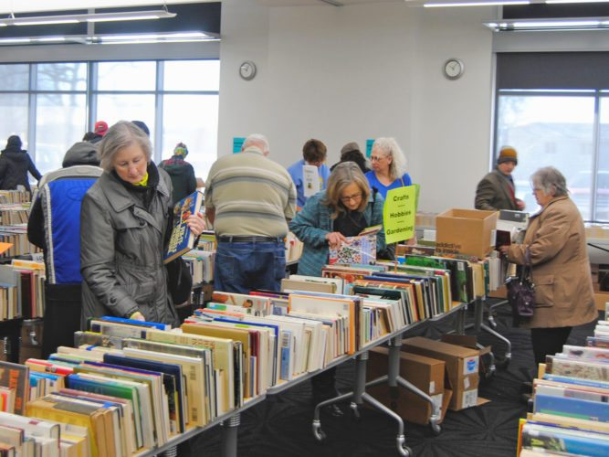 T-R FILE PHOTO The annual Friends of the Library Book Sale will take place this weekend at the Marshalltown Public Library, Saturday from 9 a.m. to 3 p.m., and Sunday from 1-4 p.m., inside its meeting rooms. Adult and children's fiction, new releases, vintage goodies, westerns, romance, travel, mystery, biographies, cookbooks, science, history and more, are just some of the genres to be had. In addition, puzzles, videos, DVDs, CDs and other media will be available.