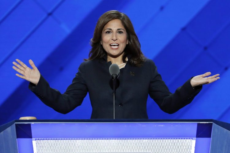 "FILE - In this July 27, 2016, file photo, Neera Tanden, president of the Center for American Progress, speaks at the Democratic National Convention in Philadelphia. A major liberal policy group is raising the ante on the health care debate with a new plan that builds on Medicare to guarantee coverage for all. Called ""Medicare Extra for All,"" the proposal to be released Feb. 22, 2018, by the Center for American Progress gives politically energized Democrats more options to achieve a long-sought goal. (AP Photo/J. Scott Applewhite, File)"