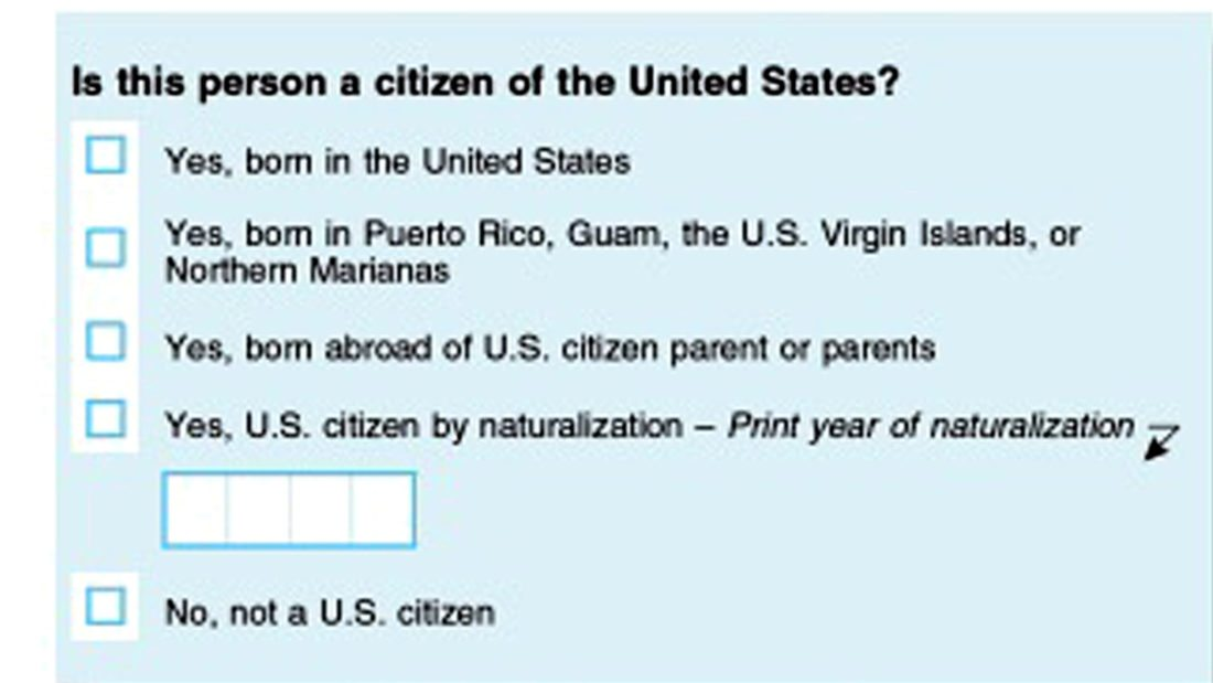 Citizenship question to be included on 2020 census
