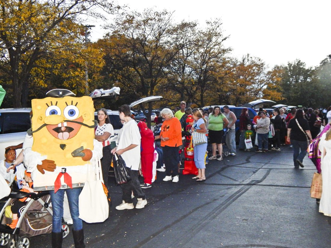 Grace United Methodist Church in Warren held their annual  Trunk or Treat event this week at the church. Long lines of costumed children could be seen in the church parking lot.