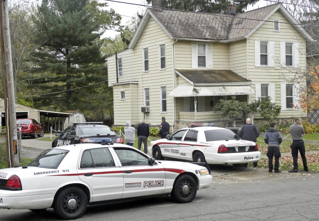 Police surround 365 First Street where a male was believed to have been taken after being abducted Wednesday.  A male was arrested on an unrelated warrant.
