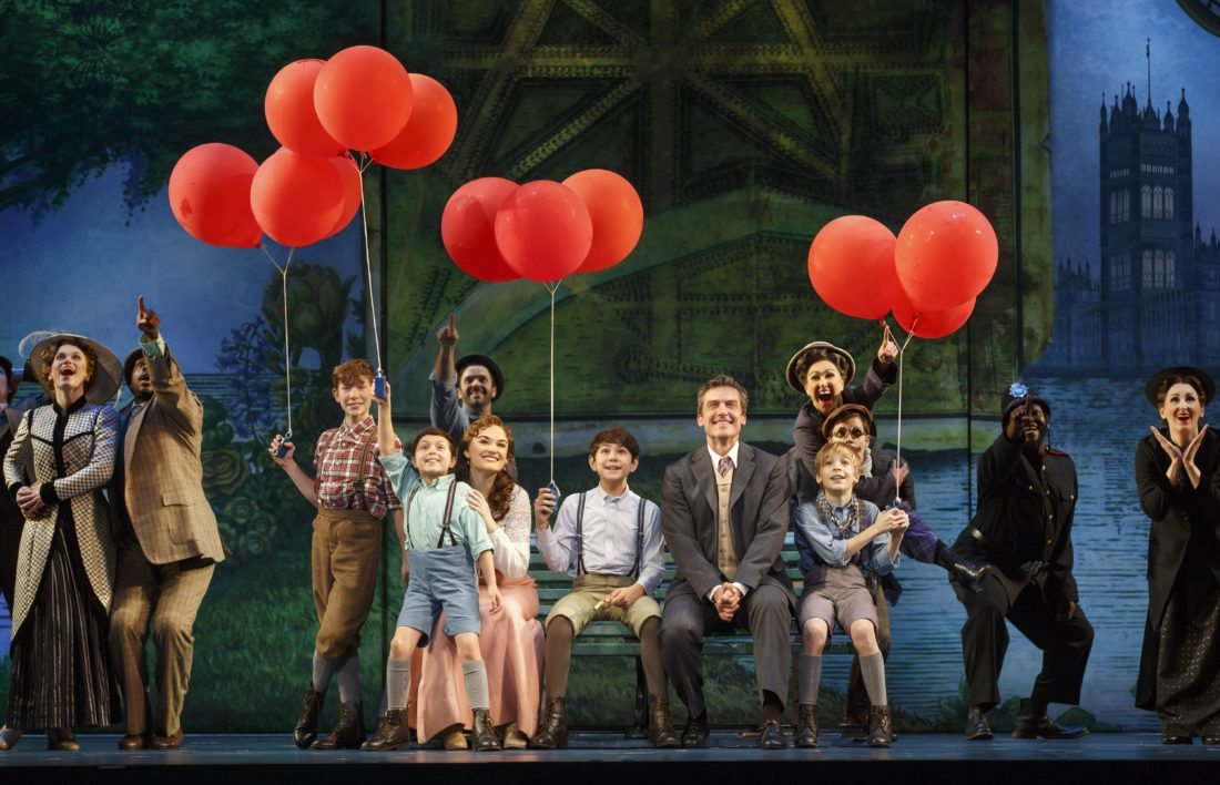 "Photo by Carol Rosegg  The cast of ""Finding Neverland"" performs ""Welcome to London."""