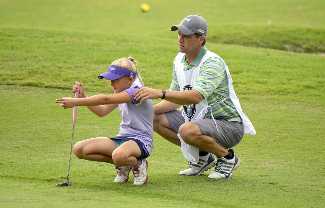 special to tribune chronicle gianna clemente 8 left is lining up a putt - Golf Assistant Jobs