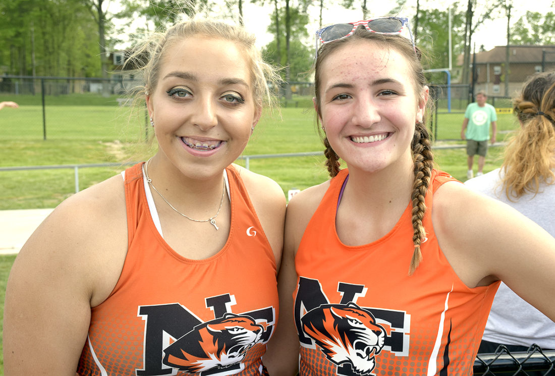Tribune Chronicle / John Vargo Newton Falls senior Kayla Barreca, left, and junior Isabelle Kline, right, are two of the state's best Division II shot put throwers.