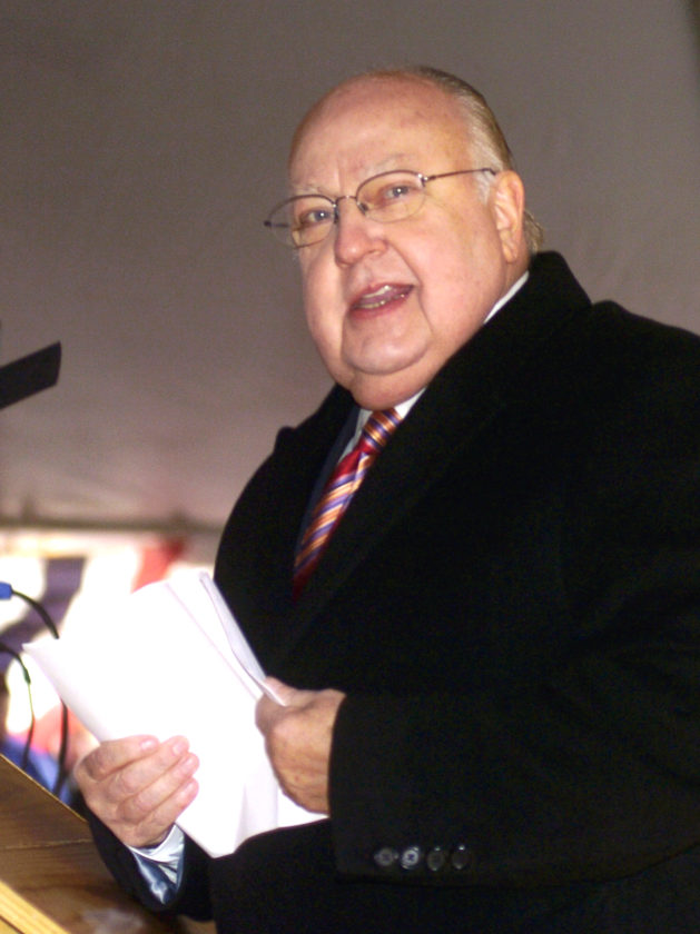 Tribune Chronicle file photo  Warren native and Fox News creator Roger Ailes spoke at a Nov. 11, 2008, dedication ceremony in Warren.
