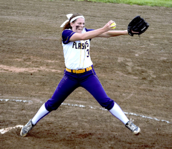 Tribune Chronicle / Bob Ettinger Champion's McKenzie Zigmont throws a pitch during the Division III Massillon Regional championship game against Tuslaw last week. The Golden Flashes are in Friday's Division III state semifinal in Akron.