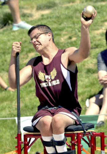 """WARREN DILLAWAY   Star Beacon Pymatuning Valley's Gabe Warsing won the """"Seated"""" division state championship on Friday at the state track meet in Columbus."""