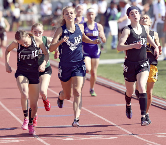 MICHAEL G. TAYLOR- 06-03-17 OHSAA State Track & Field Championships. D3 Girls 1600m, McDonald's Malina Mitchell runs a 5:04.27 minutes to finish 4th.