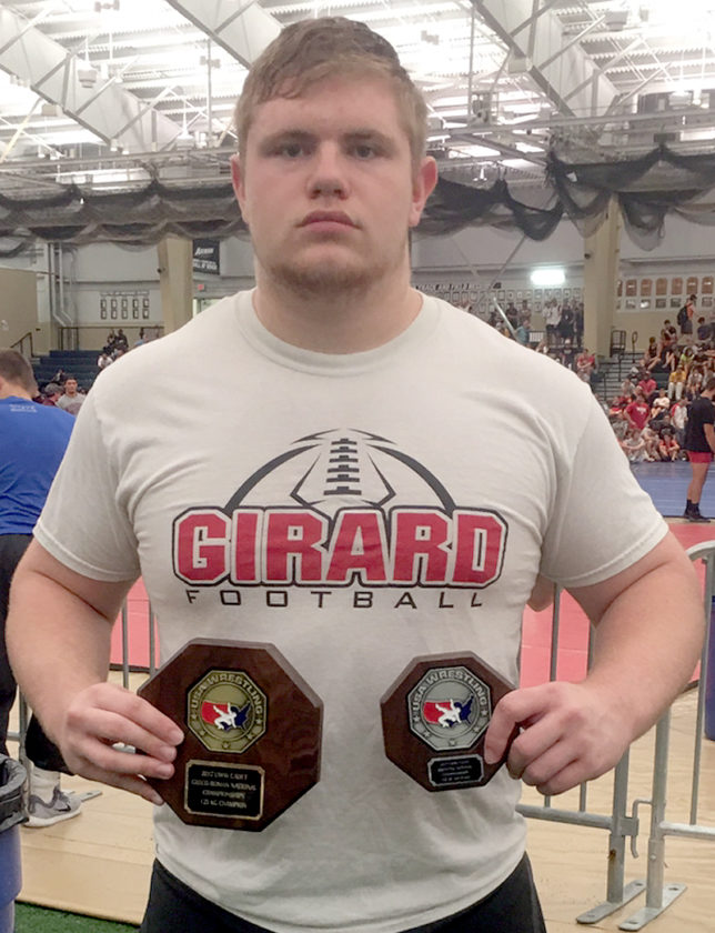 Special to Tribune Chronicle Jack DelGarbino of Girard has had success thus far this summer in offseason wrestling tournaments.