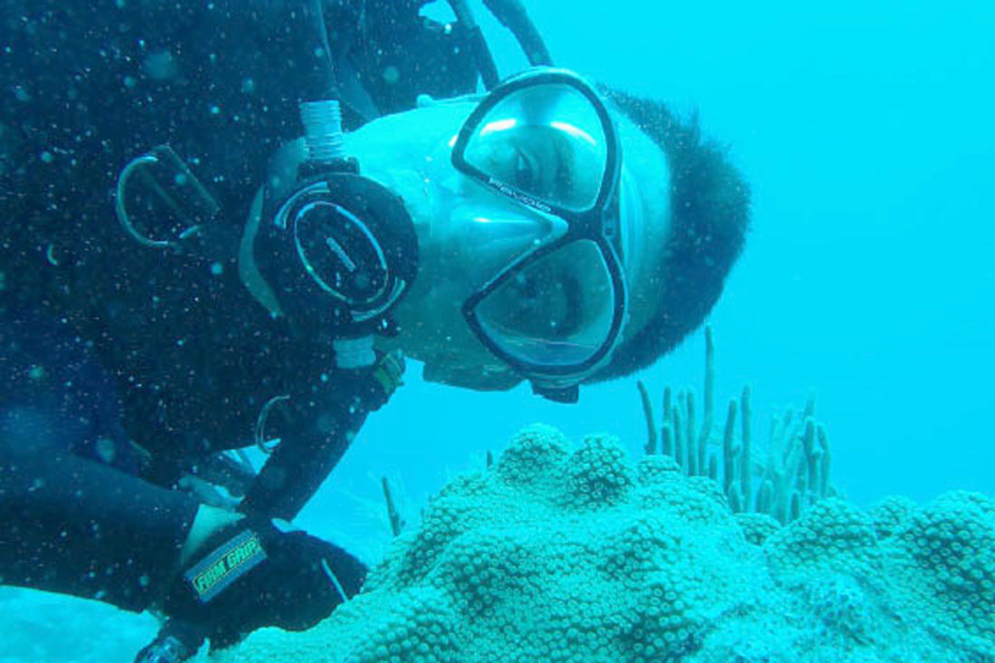 Special to the Tribune Chronicle / NASA Trevor Graff, a 1995 graduate of Lakeview High School, is part of a NASA research team spending 10 days in the world's only underwater research lab. The lab is called Aquarius and is located near Key Largo, Fla.