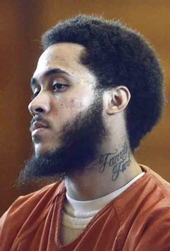 062717...R NORMAN 2...Warren...06-27-17...Derwin Norman Jr. is sentenced Tuesday morning by Common Pleas Judge Andrew Logan...by R. Michael Semple