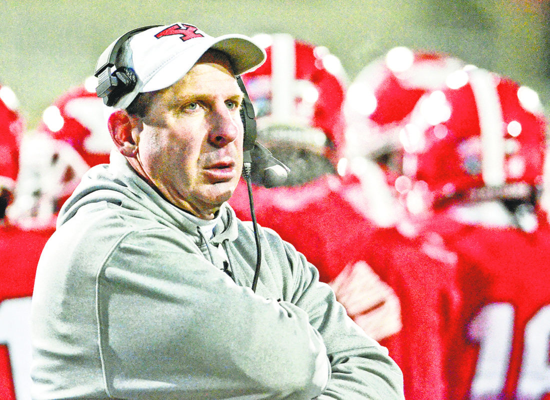 Tribune Chronicle file photo Youngstown State University football coach Bo Pelini, shown here in a playoff game last year at Stambaugh Stadium, is entering his third season as coach — with the Penguins coming off their most successful season in 18 years. YSU opens preseason camp Aug. 3.