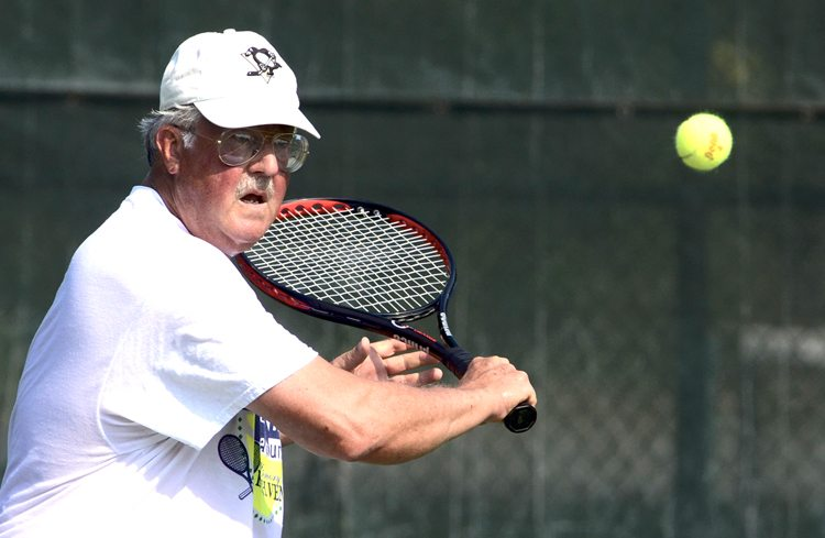 The 37th annual Northeast Ohio Senior Olympics & Sports Classic kicked off July 6. More than 100 athletes have been competing in various events at different locations throughout the Mahoning Valley and competitions continue through Saturday. The Northeast Ohio Senior Olympics are sponsored by the Area Agency on Aging 11.   Dennis LaRue of Poland competes in a tennis match at Packard Park Wednesday morning as part of the Senior Olympics.  Tribune Chronicle / R. Michael Semple