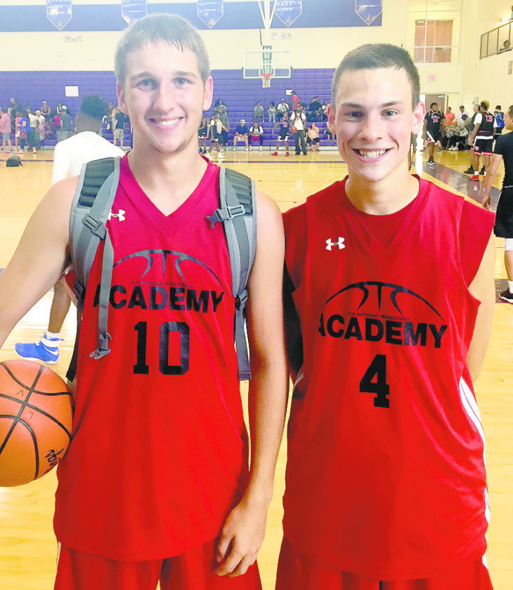 Tribune Chronicle / John Vargo Several LaBrae High School basketball players are improving their games playing on the AAU circuit. Among the Vikings playing in a tournament in the Columbus area this past weekend are  Logan Kiser, 10, and  Aaron Iler, 4.