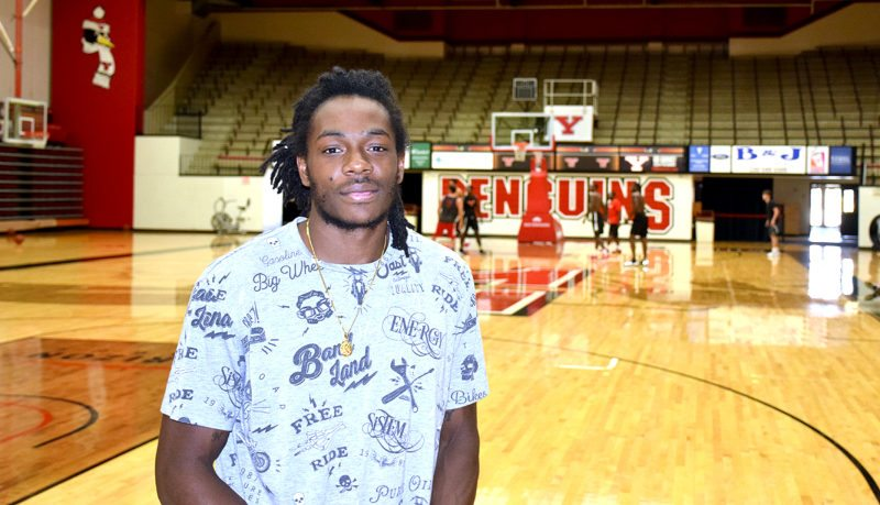 Tribune Chronicle / John Vargo Kendrick Perry, Youngstown State's No. 3 all-time leading scorer, recently visited campus and likes the direction of the program.