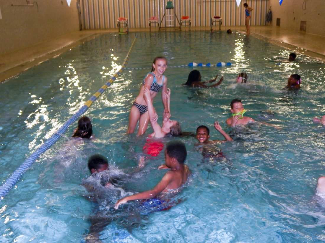 Tribune Chronicle photos  / Bob Coupland Children spent time at the Trumbull Family Fitness indoor swimming pool as part of the summer children's program. Activities are held at Family Fitness in Warren and offsite through Aug. 18.