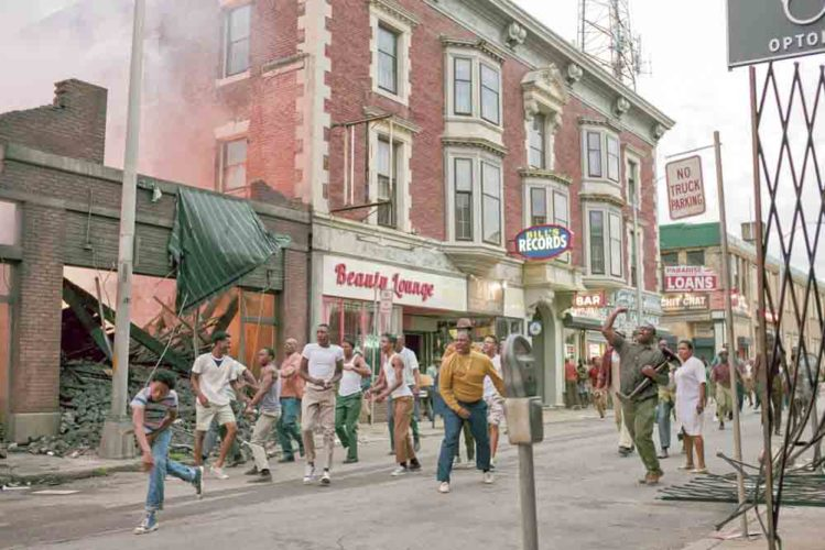 """This image released by Annapurna Pictures shows a scene from """"Detroit."""" (Francois Duhamel/Annapurna Pictures via AP)"""