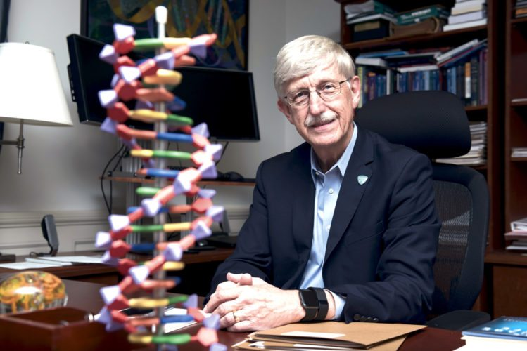 After DNA testing showed that National Institutes of Health Director Francis Collins, above, was predisposed to Type 2 diabetes, which is more likely to develop if a person is overweight or obese, Collins shed 35 pounds.