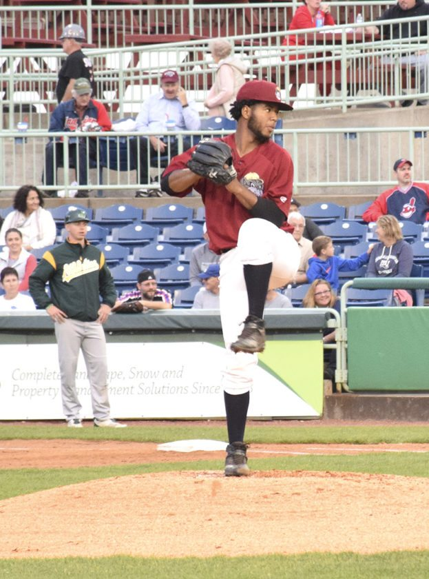 Tribune Chronicle / John Vargo Gregori Vasquez throws a pitch.