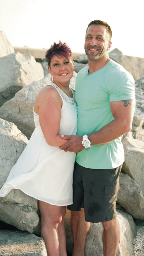 Special to the Tribune Chronicle Amy Turek of Howland, a three-time breast cancer survivor, credits the support of her husband, Brad, rgiht, as well as of friends, family, doctors and prayer, for her being alive today.