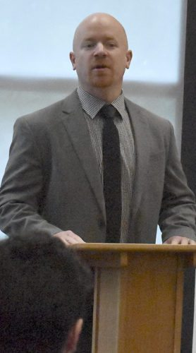 Tribune Chronicle / Marc Weems Phantoms coach Brad Patterson addresses the media this week.