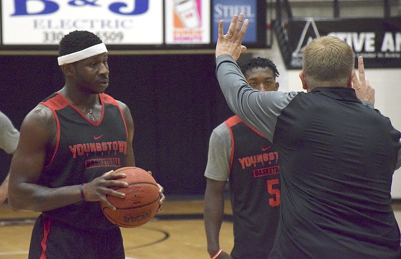 Tribune Chronicle / John Vargo Junior college transfer Tyree Robinson is expected to provide energy in the key for Youngstoswn State.