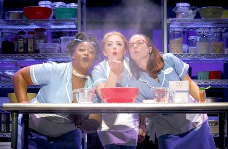"Special to the Tribune Chronicle  / Joan Marcus From left, Charity Angel Dawson, Desi Oakley and Lenne Klingaman star in the national tour of ""Waitress,"" which runs through Nov. 5 at the Playhouse Square's Connor Palace."
